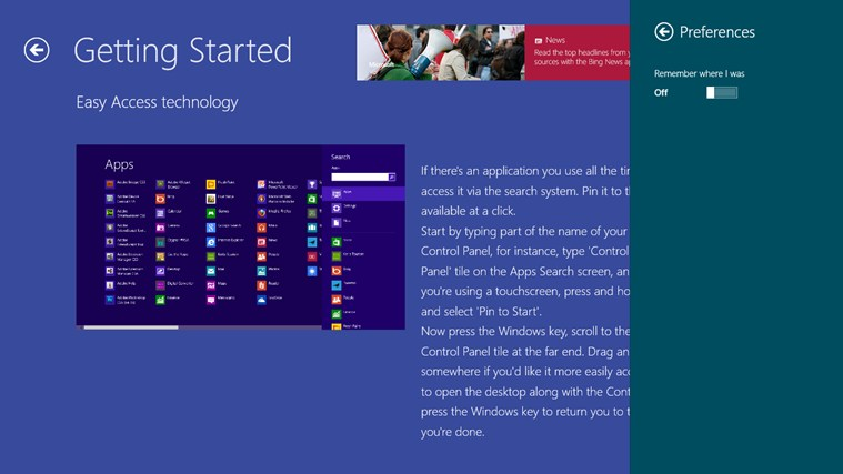 Guide for Windows 8.0 screen shot 3