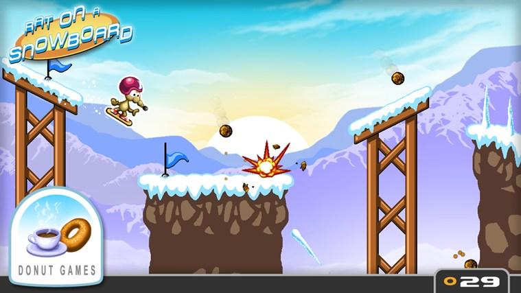 Rat on a Snowboard screen shot 1