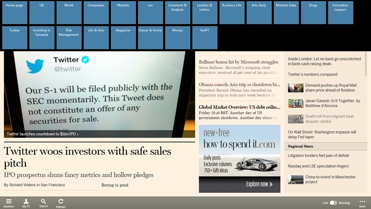 Financial Times screen shot 3