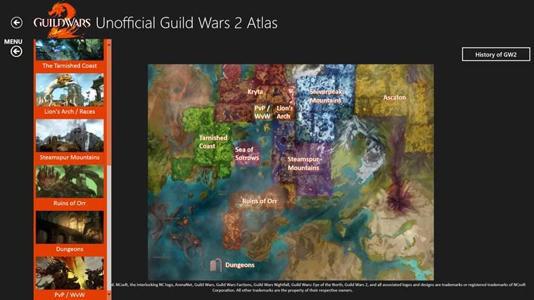 Unofficial Guild Wars 2 Atlas Ad Free snimka zaslona 1