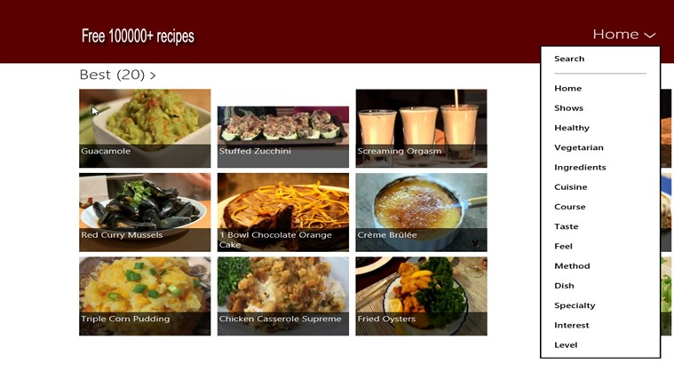 Free 100,000+ recipes screen shot 1