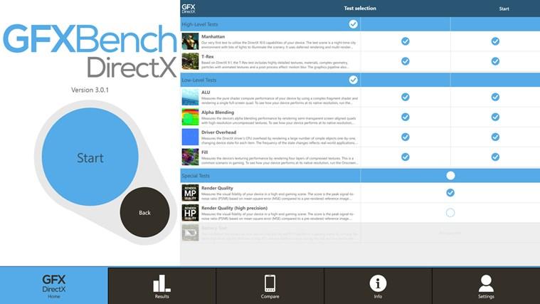GFXBench DX Benchmark screen shot 3