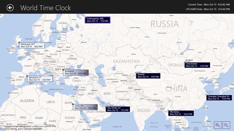 World Time Clock screen shot 1