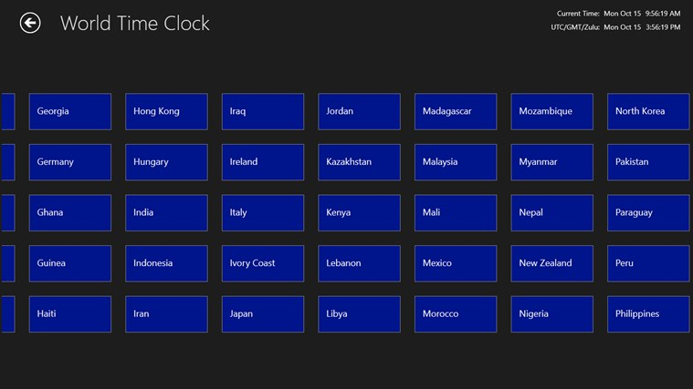 World Time Clock screen shot 3