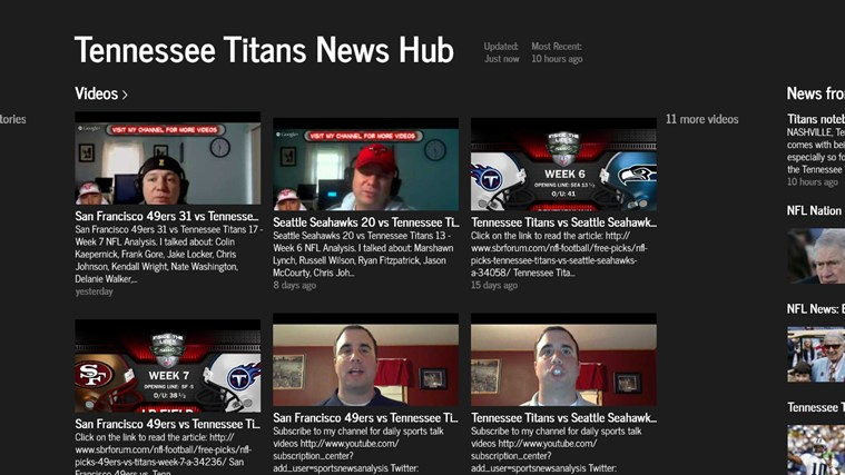 Tennessee Titans News Hub screen shot 1