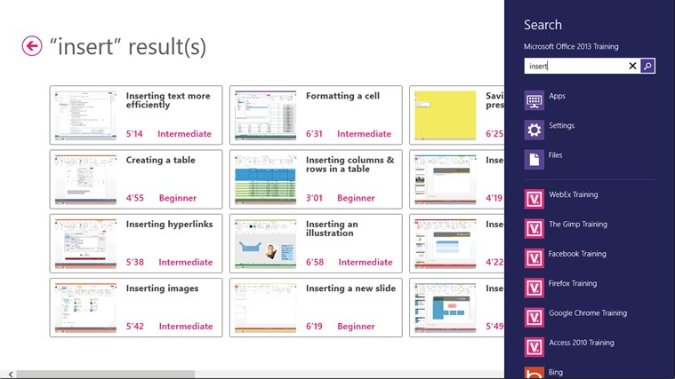 Training for Microsoft Office 2013 by Vodeclic screenshot 5