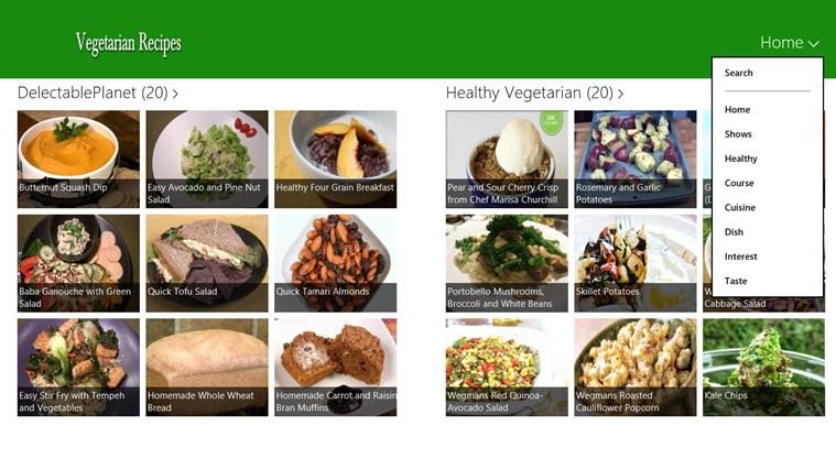 Vegetarian schermafbeelding 1