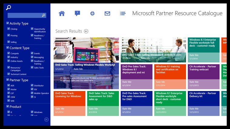 Microsoft Partner Resource Catalog screen shot 1