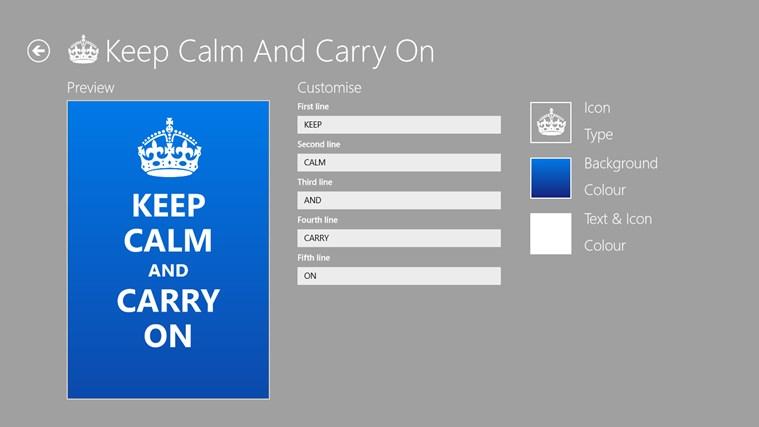 Keep Calm petikan skrin 1