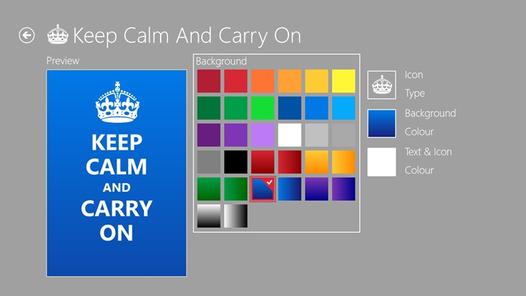 Keep Calm petikan skrin 3
