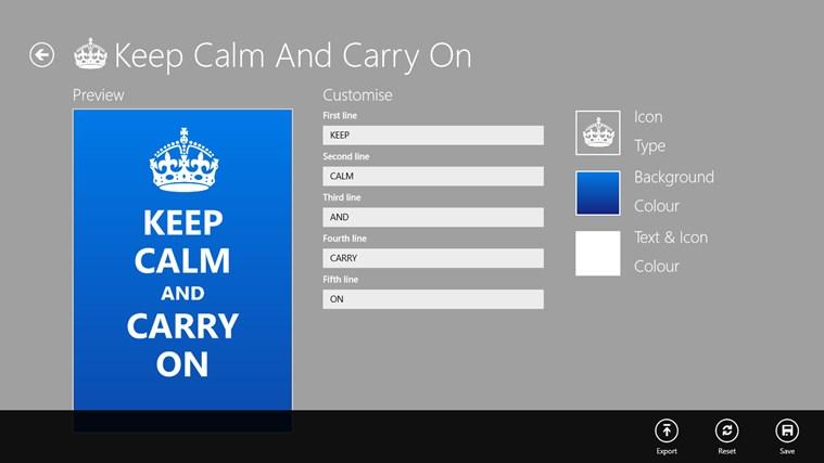 Keep Calm petikan skrin 5