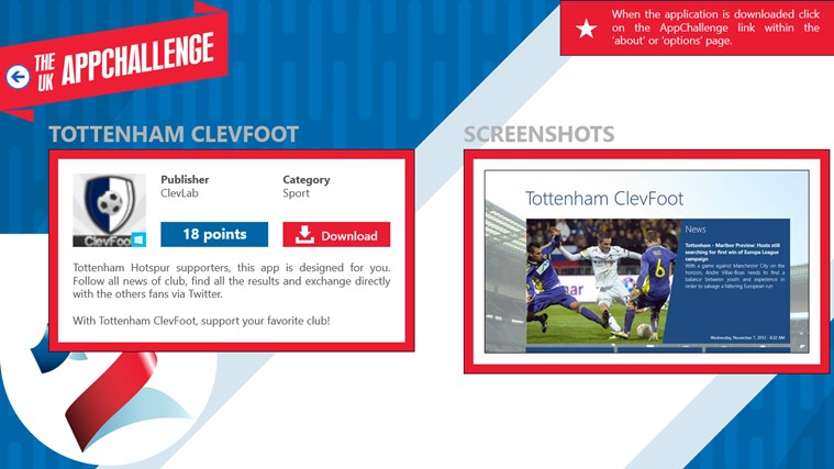 The UK AppChallenge screen shot 3