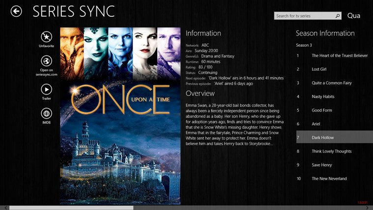 Series Sync captura de pantalla 1