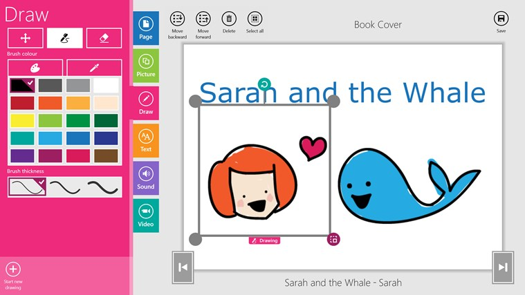 CreateBook screen shot 3