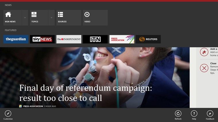 MSN News screen shot 1