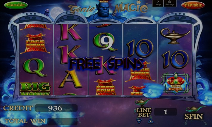 GENIE MAGIC SLOT MACHINE Screenshot 1
