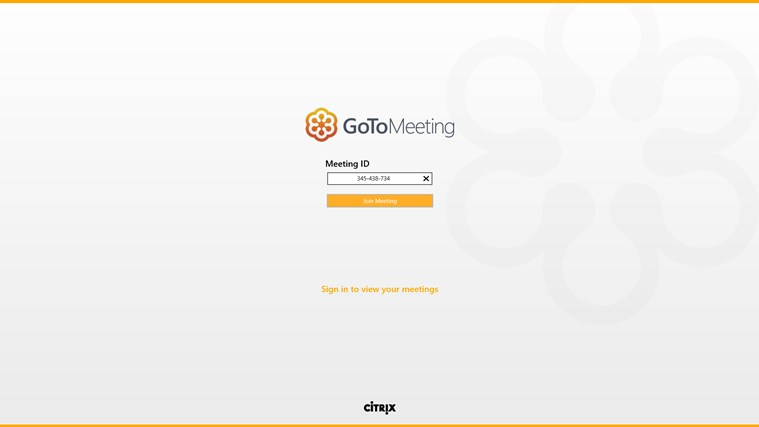 GoToMeeting screen shot 1
