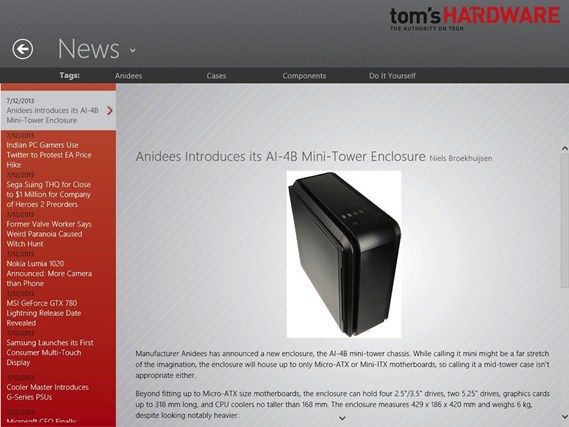 Tom's Hardware screen shot 3