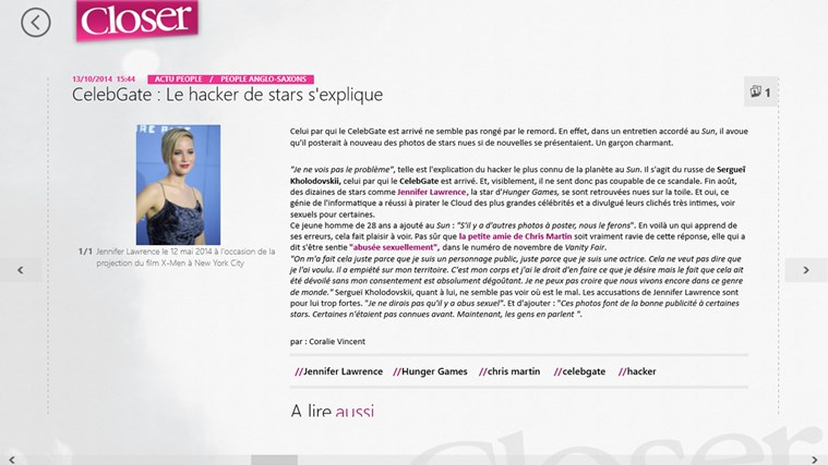 Closer - Les News People en Live capture d'écran 1