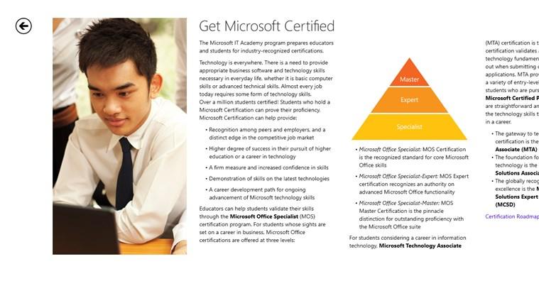 Microsoft IT Academy screen shot 1