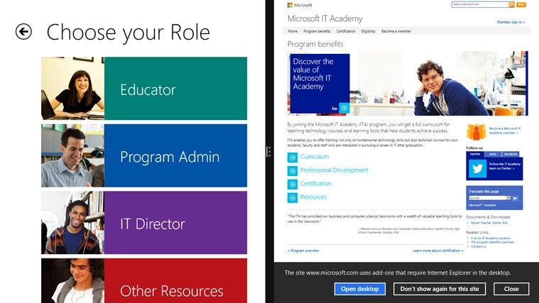 Microsoft IT Academy screen shot 3