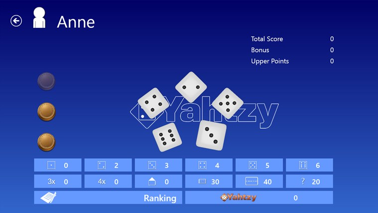Yahtzy screen shot 1