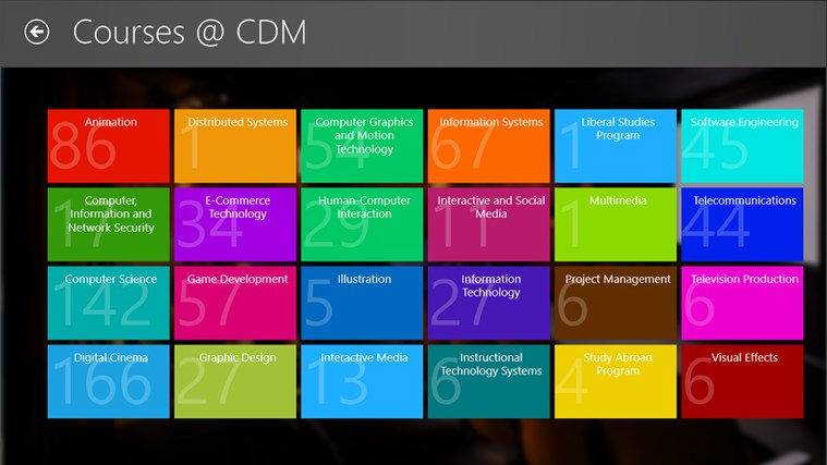 DePaul University CDM screen shot 5