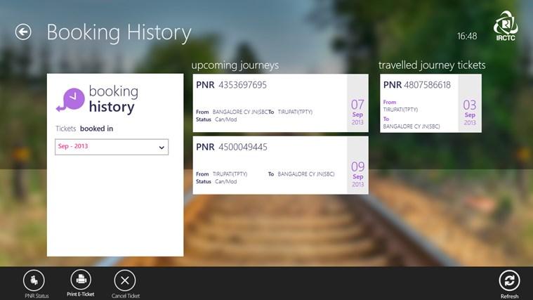 IRCTC Official screen shot 7