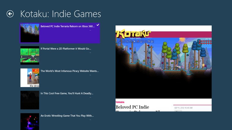 Indie Games News screen shot 1