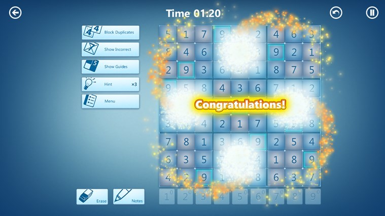 Microsoft Sudoku screen shot 3