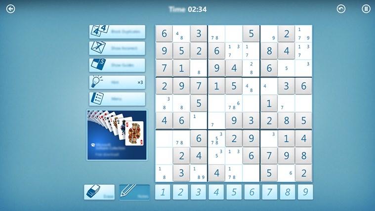 Microsoft Sudoku screen shot 5