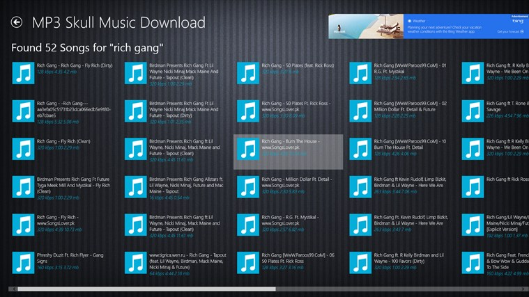 Mp3 Skull Music Download FREE screen shot 1