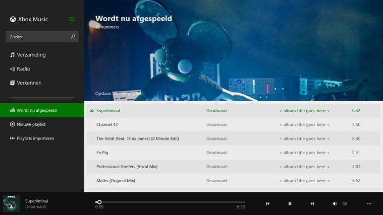 Muziek schermafbeelding 3