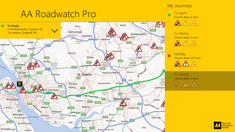 AA Roadwatch Pro screen shot 1