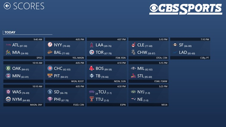 CBS Sports screen shot 1