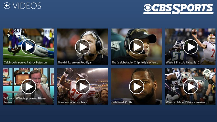 CBS Sports screen shot 5