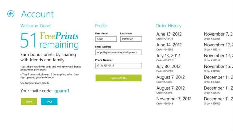Free Prints screen shot 7