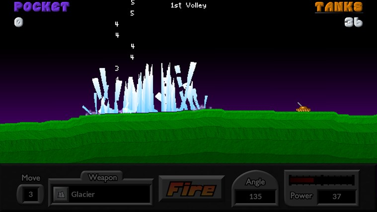 Pocket Tanks screen shot 1