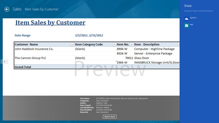 Jet Reports Player for Microsoft Dynamics® NAV screen shot 3