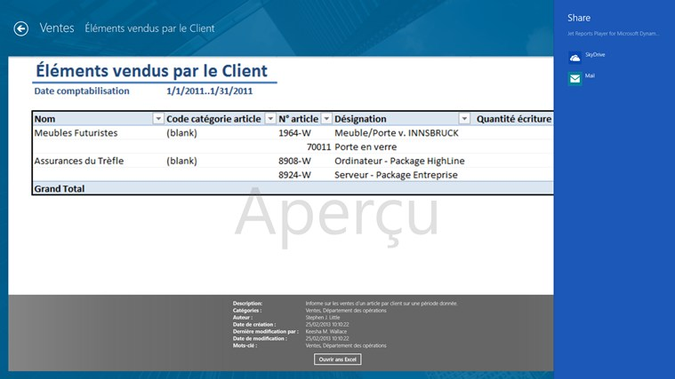 Jet Reports Player for Microsoft Dynamics® NAV capture d'écran 3