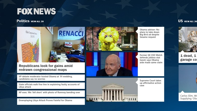 Fox News screen shot 1