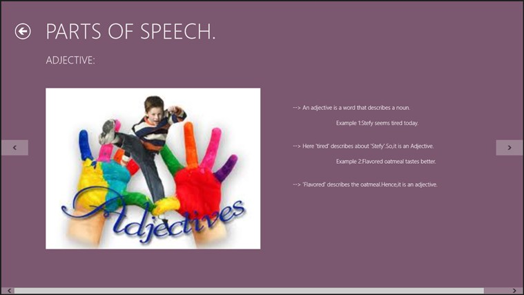 The Parts of Speech. screen shot 3