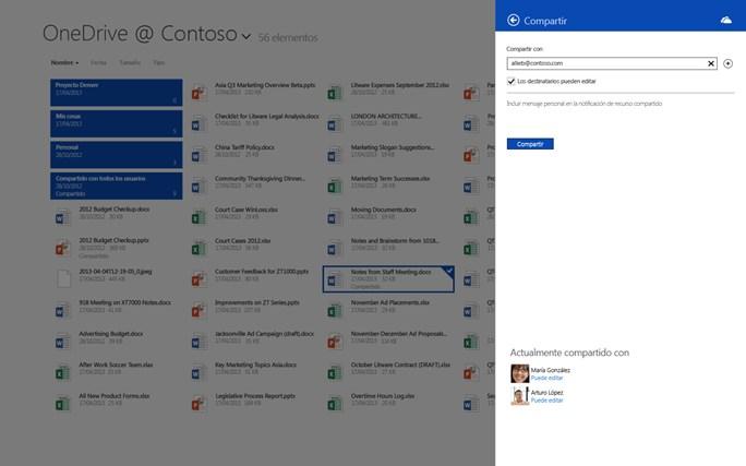 OneDrive para la Empresa captura de pantalla 1