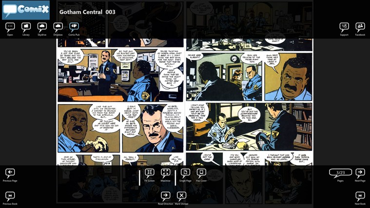 Comix screen shot 5