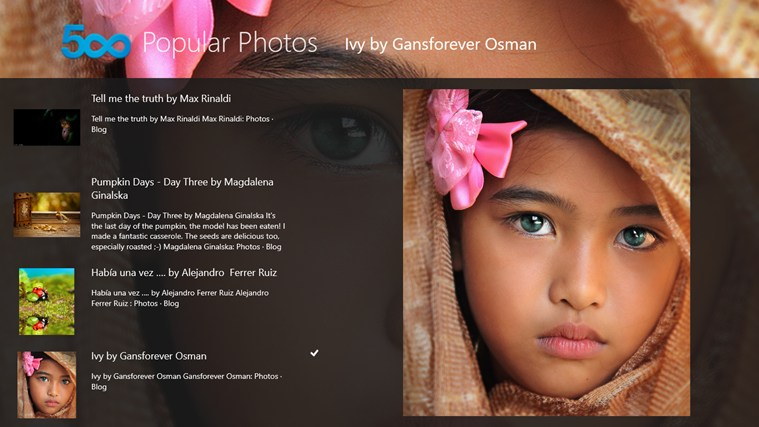 500px Popular Photos screen shot 3