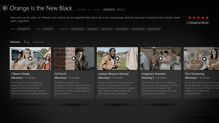 Netflix schermafbeelding 1