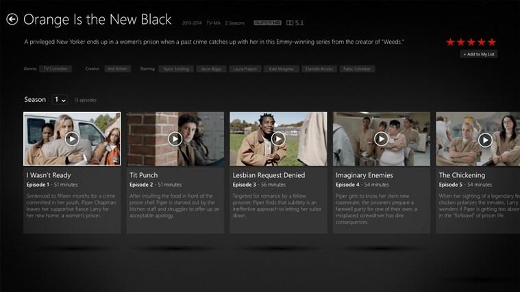 Netflix screen shot 1