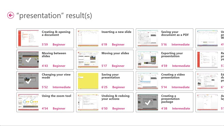 Training for PowerPoint 2013 by Vodeclic screenshot 5