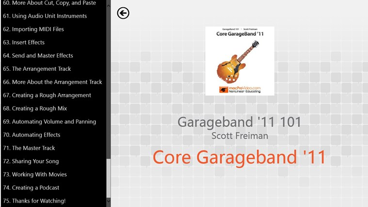 Learning GarageBand '11 screen shot 1