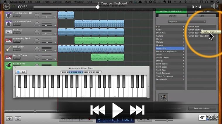 Learning GarageBand '11 screen shot 3